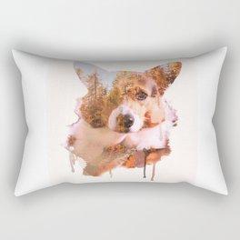 Corgi Forest Rectangular Pillow