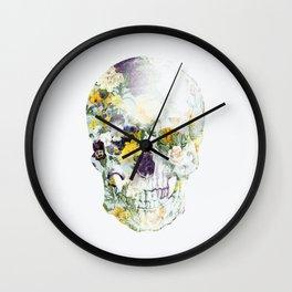 Skull Bouquet B Wall Clock
