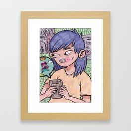 YVNG PURPLEBAG Framed Art Print