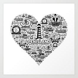 Pen Island Brewing Company Love Art Print