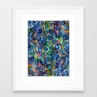 underwater Framed Art Prints featuring Underwater by Lily Mandaliou