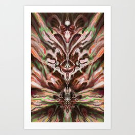 Abstract Anomaly [Berry Blossom] Art Print