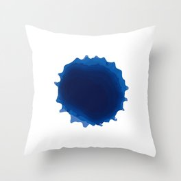 blue paint, ink, grunge, dirty brush splash blue Throw Pillow