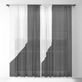 OVERSIMPLE (BLACK-WHITE) Sheer Curtain