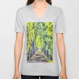 Forest Path Watercolour Unisex V-Neck