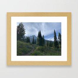 Delta Lake Hike Framed Art Print