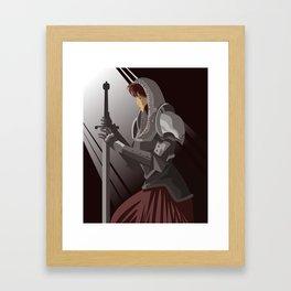 joan of arc lady warrior Framed Art Print
