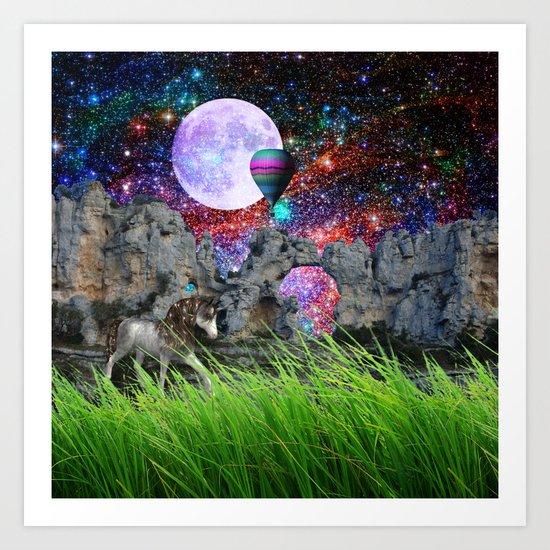 dreaming planet Art Print