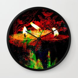 Candles Still Life By Annie Zeno  Wall Clock