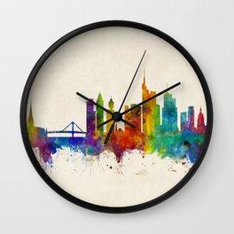 Frankfurt Germany Skyline Wall Clock