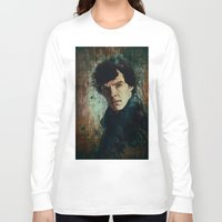 sherlock Long Sleeve T-shirts featuring Sherlock by Sirenphotos