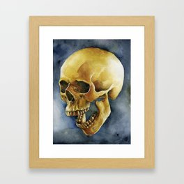 watercolor skull #2 Framed Art Print