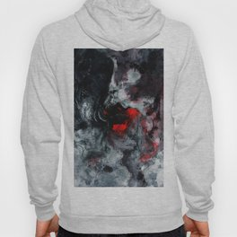 Red and Black Minimalist Abstract Painting Hoody