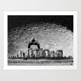 Stone & Despair Art Print