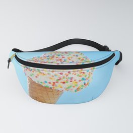 Summer ice cream with rainbow sprinkles Fanny Pack