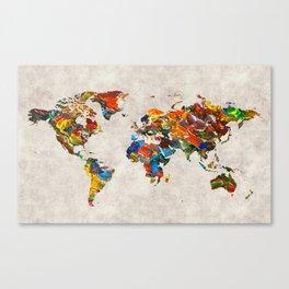 World Map 43 Canvas Print