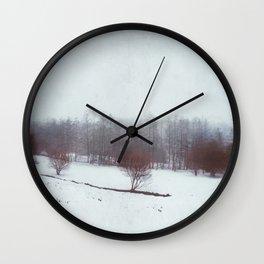 misty winterscape Wall Clock