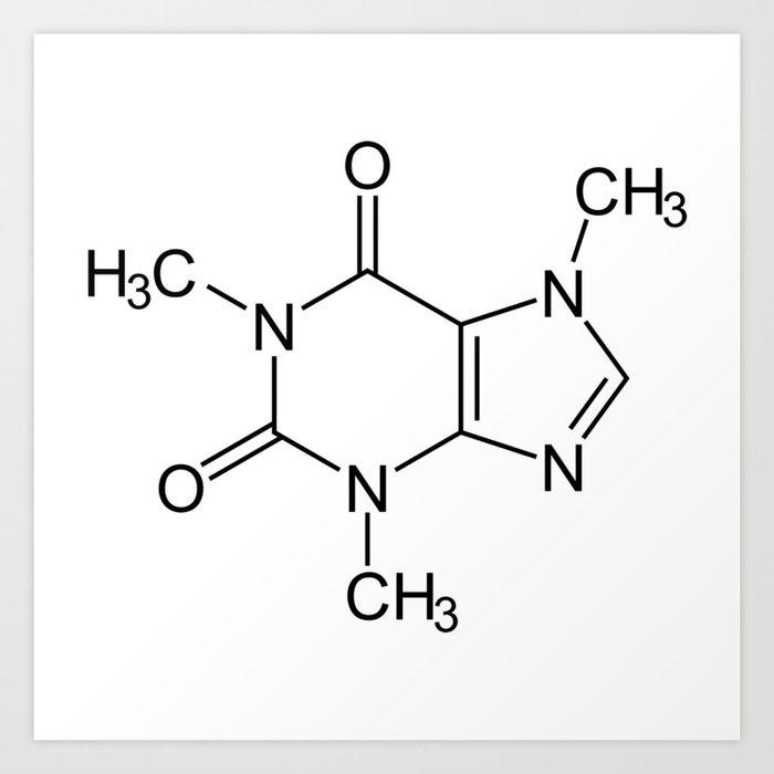 Caffeine Molecule Kunstdrucke