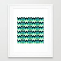 mid century Framed Art Prints featuring Mid-century Mod by Holly Helgeson
