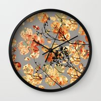 quilt Wall Clocks featuring Dogwood Quilt by Olivia Joy StClaire