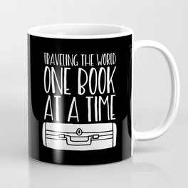 Traveling the World One Book at a Time (Inverted) Coffee Mug
