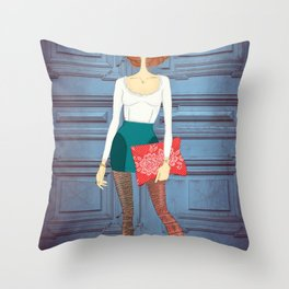 Lady Lady Throw Pillow