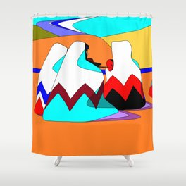 Women of the Dessert in Jewel Tones Shower Curtain