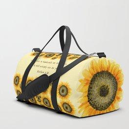 Consider the Sunflower Duffle Bag