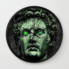 Angry Caesar Augustus Photo Manipulation Portrait Wall Clock