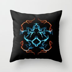 The Electrified Colors - Digital Work Throw Pillow