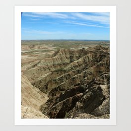 A Rugged Landscape Art Print