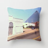 memphis Throw Pillows featuring Memphis by lizzy gray kitchens