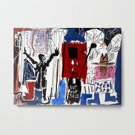 Jean-Michel Basquiat - Obnoxious Liberals , 1982 Metal Print
