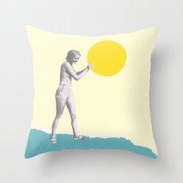 She Caught the Sun Throw Pillow