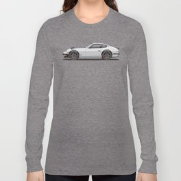 Legendary Classic White 240z Fairlady Vintage Retro Cool German Car Wall Art and T-Shirts Long Sleeve T-shirt