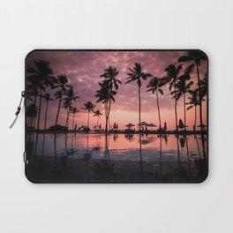 Serene Coconut Trees On Poolside Laptop Sleeve