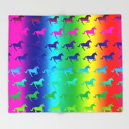 Psychedelic Unicorn Pattern Throw Blanket