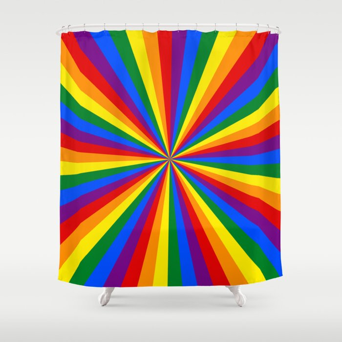 Eternal Rainbow Infinity Pride Shower Curtain