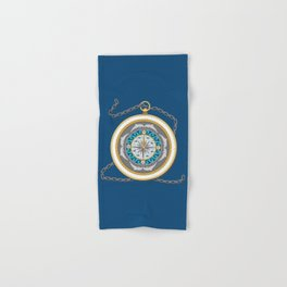 Fantasy Nautical Compass with Dolphins Hand & Bath Towel