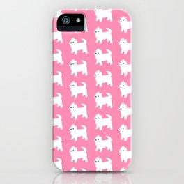 Westies Pink Pattern iPhone Case