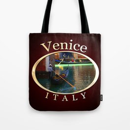 Gondoliers On A Venetian Canal Tote Bag