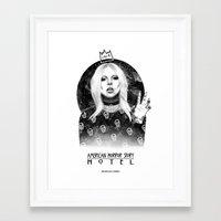 ahs Framed Art Prints featuring AHS Hotel by Ash Tarek