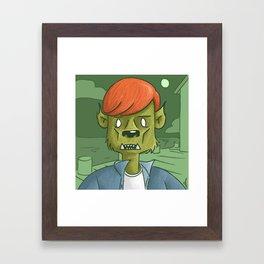 concerned boy Framed Art Print