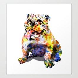 Color bull Art Print