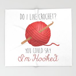 Do I Like Crochet? You Could Say I'm Hooked  |  Red Throw Blanket