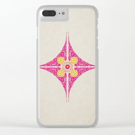 Pata Pattern in Pink & Yellow Clear iPhone Case