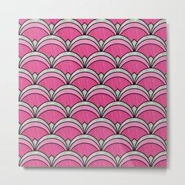 Pink Vintage Twenties Art Deco Pattern Metal Print