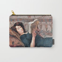 Isaac Lazarus Israels - Reading Woman On A Couch - Digital Remastered Edition Carry-All Pouch
