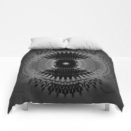 Dark Radial Pattern Comforters