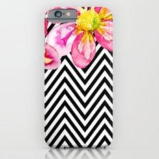 Chevron Floral Watercolor Flowers Slim Case iPhone 6s